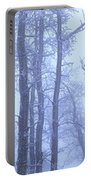 Frost Covered Trees In Fog, Alaska Portable Battery Charger