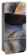 Frost On Oak Leaf Portable Battery Charger