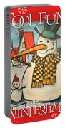 Frosty Family Poster Portable Battery Charger