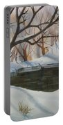 Frozen Pond Portable Battery Charger