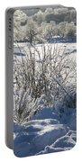 Frozen Winter Landscape Portable Battery Charger