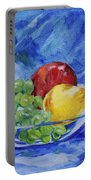 Fruit On Blue Portable Battery Charger