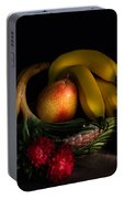 Fruit Still Life With Wine Portable Battery Charger