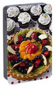 Fruit Tart Pie And Cupcakes  Portable Battery Charger