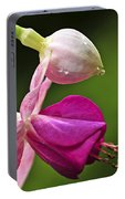 Fuchsia Flower Portable Battery Charger