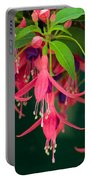 Fuchsia Windchime Flowers Portable Battery Charger