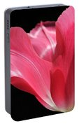 Full Bloom Pink Tulip Flower Portable Battery Charger