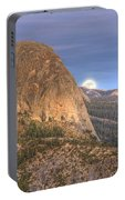 Full Moon Rise Behind Half Dome 2 Portable Battery Charger