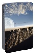 Full Moon Rising Above A Sand Dune Portable Battery Charger