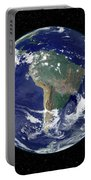 Fully Lit Earth Centered On South Portable Battery Charger by Stocktrek Images