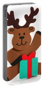 Fun Reindeer Sitting Portable Battery Charger
