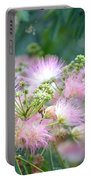 Furry Pink Bouquet Portable Battery Charger