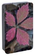 Fushia Leaf Portable Battery Charger