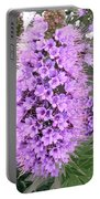 Fuzzy Purple Flower Spike Portable Battery Charger