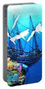 Galleon On The Cliff Filtered Portable Battery Charger