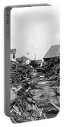 Galveston Flood Debris - September - 1900 Portable Battery Charger by International  Images