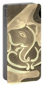 Ganesha In Sepia Hues Portable Battery Charger
