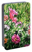 Garden Flowers Sketchbook Project Down My Street Portable Battery Charger