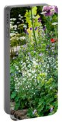 Garden Flowers With Stream Portable Battery Charger