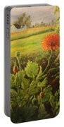 Garden Poppies Portable Battery Charger
