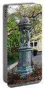 Garden Statuary In The French Quarter Portable Battery Charger