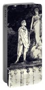 Garden Statue At Villa Capri Portable Battery Charger