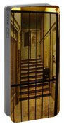 Gated Stairwell At Night Portable Battery Charger