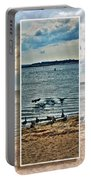 Geese Point Landing Triptych Portable Battery Charger
