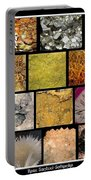 Gemstones And More Collage Portable Battery Charger