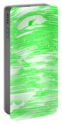 Gentle Giant In Negative Light Green Portable Battery Charger