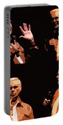 George Jones Concert Collage Portable Battery Charger