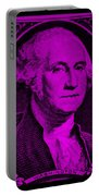 George Washington In Purple Portable Battery Charger