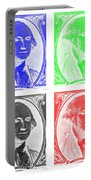 George Washington In Quad Negative Portable Battery Charger