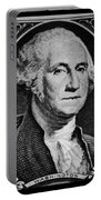 George Washington In White Portable Battery Charger