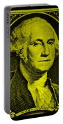 George Washington In Yellow Portable Battery Charger