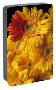 Gerbera Daisy With Orange Petals Portable Battery Charger