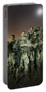German Army Crew Poses Portable Battery Charger