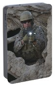 German Army Soldier Armed With A M4 Portable Battery Charger