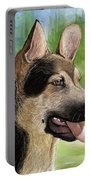 German Shepard Puppy Portable Battery Charger