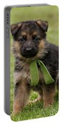 German Shepherd Puppy In Grass Portable Battery Charger