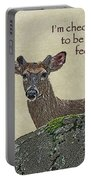 Get Well Card - Whitetail Deer In Velvet Portable Battery Charger