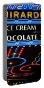 Ghirardelli Chocolate Signs At Night Portable Battery Charger