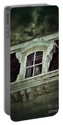 Ghostly Girl In Upstairs Window Portable Battery Charger by Jill Battaglia