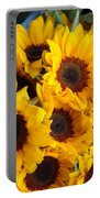 Giant Sunflowers For Sale In The Swiss City Of Lucerne Portable Battery Charger