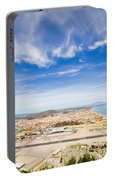Gibraltar Airport Runway And La Linea Town Portable Battery Charger