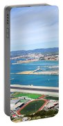Gibraltar Runway And La Linea Cityscape Portable Battery Charger