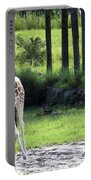 Giraffe In Animal Kingdom Portable Battery Charger