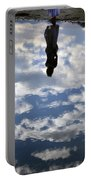 Girl And The Sky Portable Battery Charger