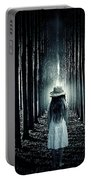 Girl In The Forest Portable Battery Charger