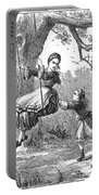 Girl On Swing, 1873 Portable Battery Charger